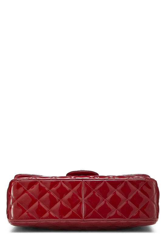 Red Quilted Patent Leather New Classic Double Flap Jumbo, , large image number 4