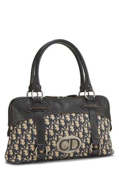 Navy Trotter Canvas Handbag, , large