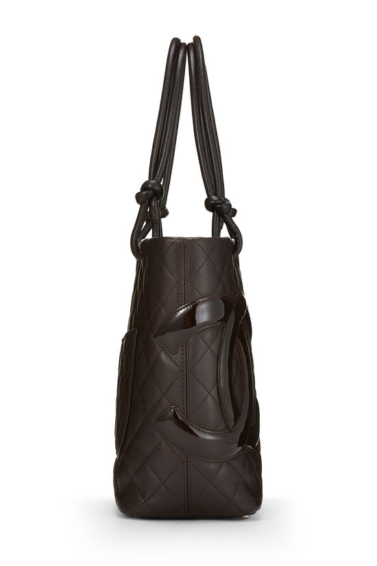 Brown Quilted Calfskin Cambon Tote Small, , large image number 2
