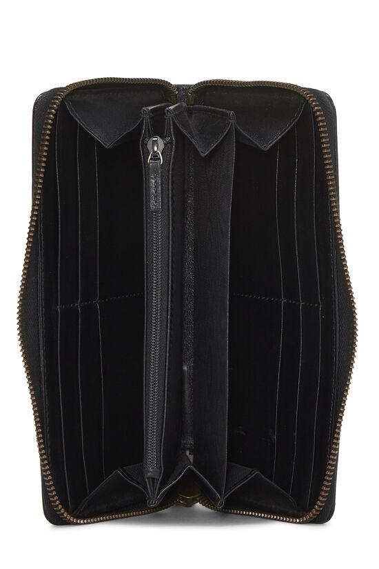 Black Leather 'GG' Marmont Wallet, , large image number 3