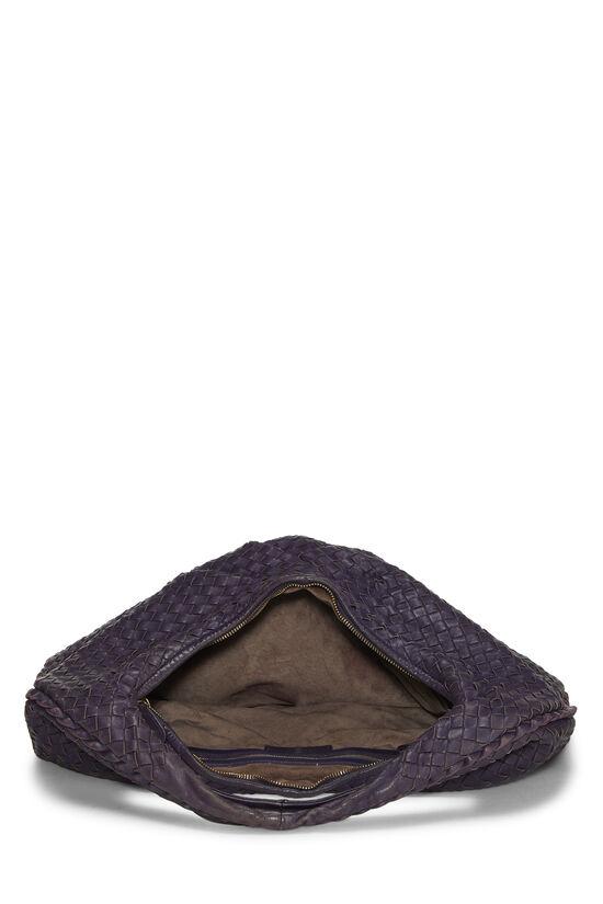 Purple Intrecciato Pleated Veneta Hobo Large, , large image number 5