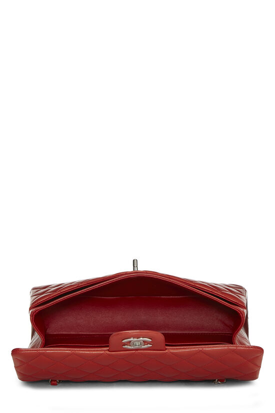 Red Quilted Lambskin Classic Double Flap Small, , large image number 5
