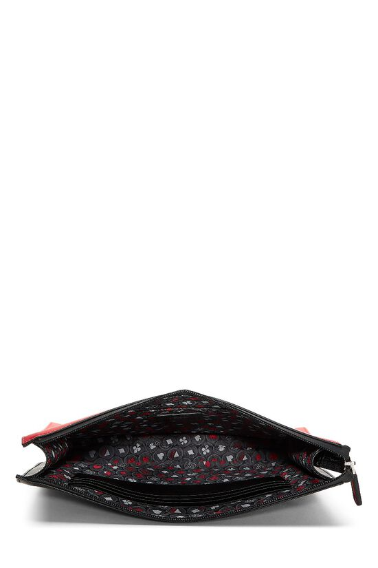 Black & Red Leather Fiend Clutch, , large image number 3