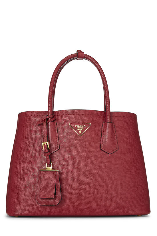 Red Saffiano Double Bag Small, , large image number 0