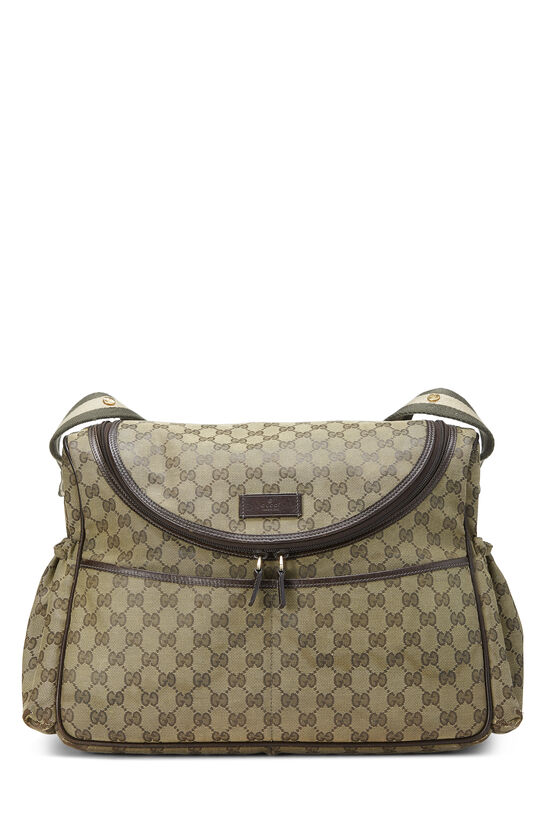 Green GG Canvas Diaper Bag, , large image number 0