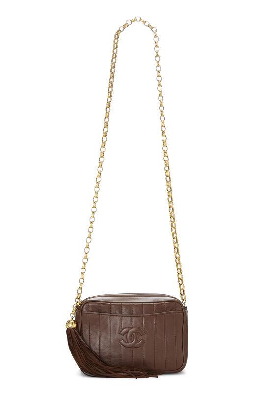Brown Vertical Lambskin Pocket Camera Bag Mini, , large image number 6
