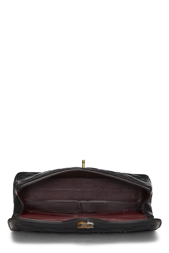 Black Quilted Lambskin Paris Limited Double Flap Medium, , large image number 5