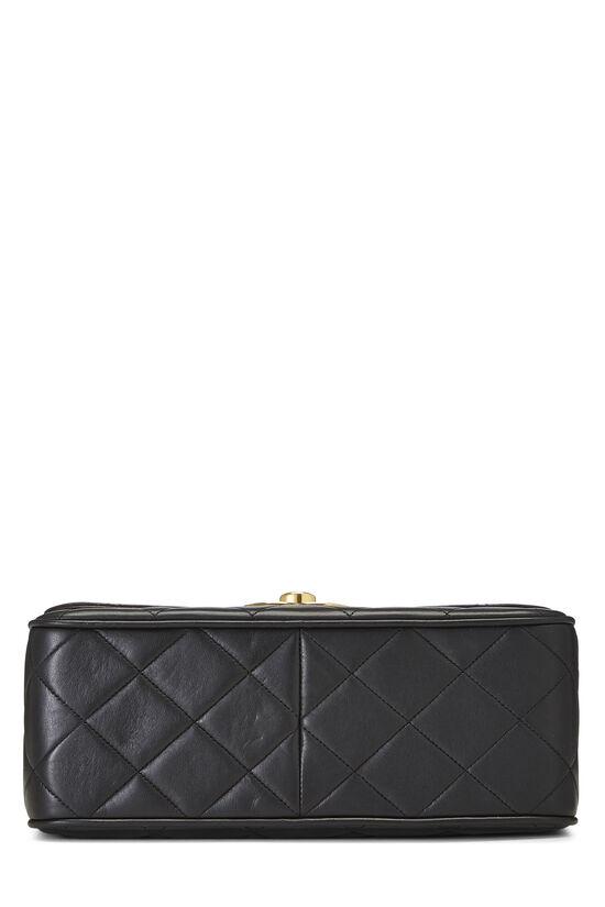 Black Quilted Lambskin 'CC' Square Shoulder Bag, , large image number 5
