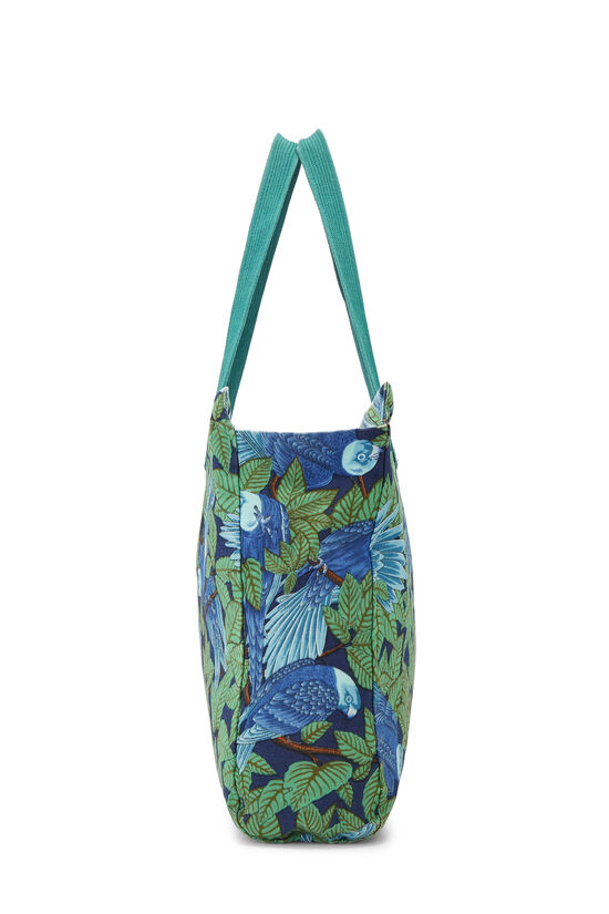 Green & Blue Tropical Canvas Tote, , large image number 2