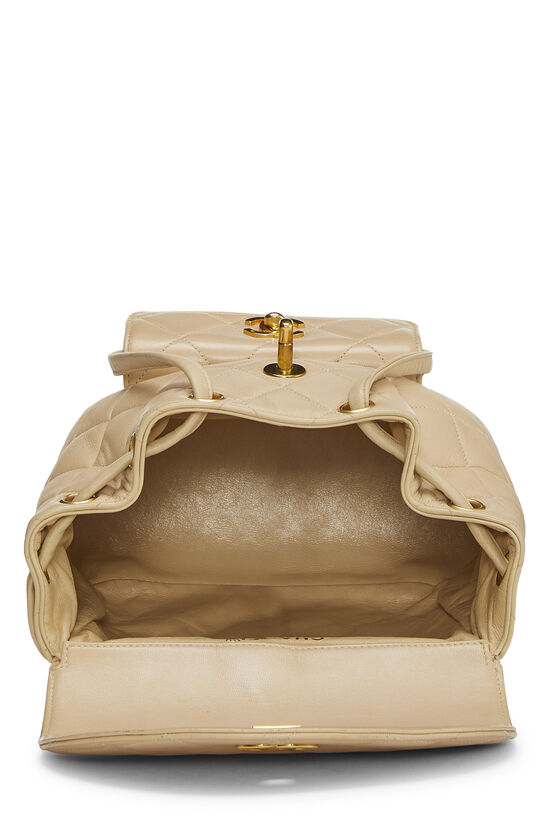 Beige Quilted Lambskin 'CC' Classic Backpack Small, , large image number 5