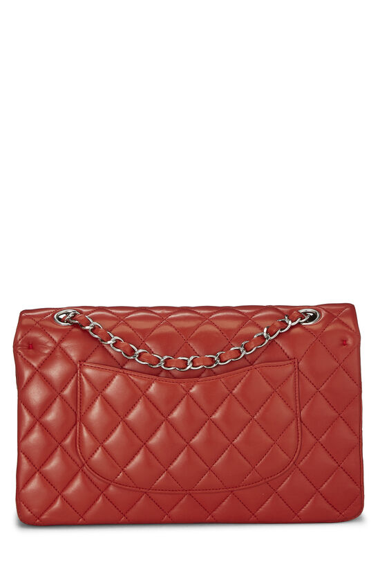 Red Quilted Lambskin Classic Double Flap Small, , large image number 3