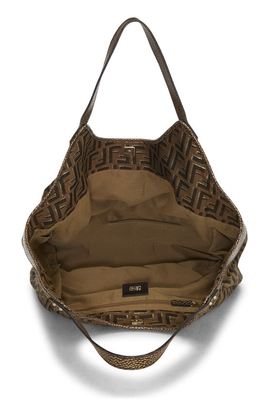 Brown Zucca Canvas Chef Tote Large, , large image number 5