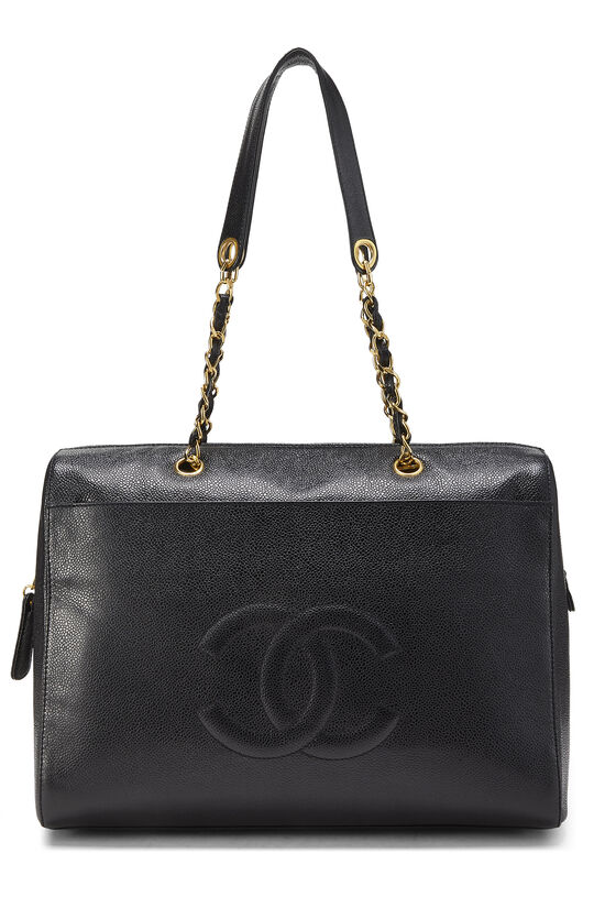 Black Caviar Zip Tote Small, , large image number 0