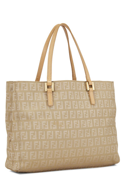 Beige Zucchino Canvas Shopping Tote Small, , large