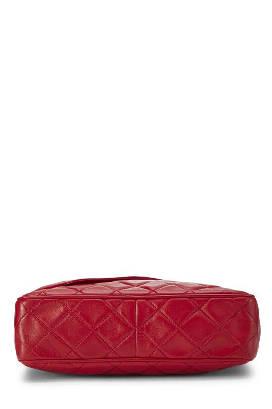 Red Diagonal Lambskin 'CC' Camera Bag Medium, , large image number 5