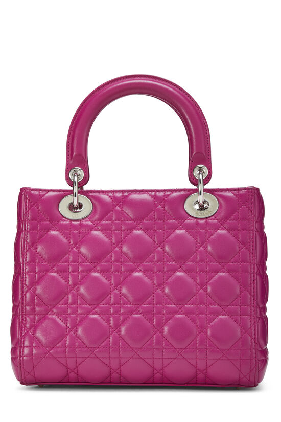 Pink Cannage Quilted Lambskin Lady Dior Medium, , large image number 3