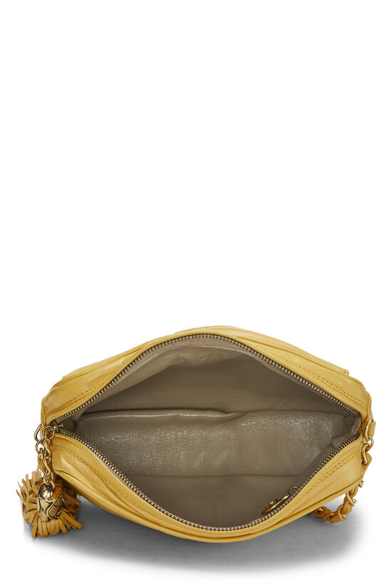 Yellow Quilted Lambskin Pocket Camera Bag Mini, , large image number 6