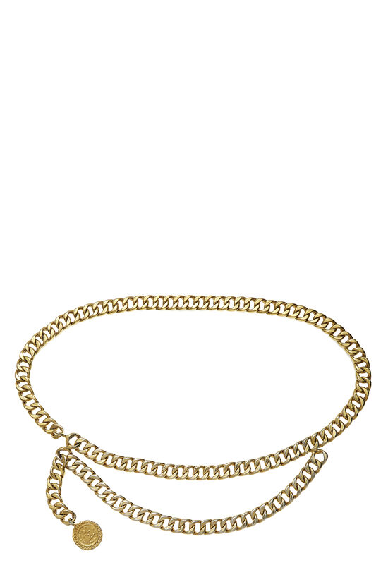 Gold 'CC' Chain Belt 2, , large image number 0