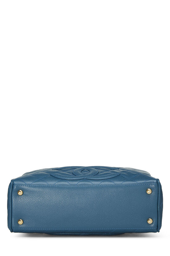 Blue Quilted Caviar Bowler Mini, , large image number 4