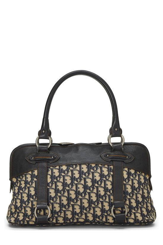 Navy Trotter Canvas Handbag, , large image number 3