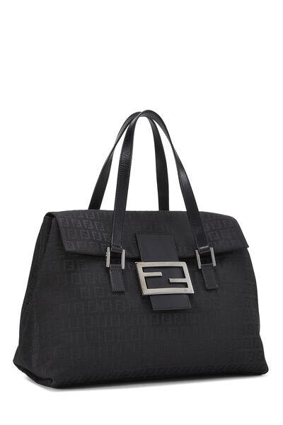 Black Zucchino Canvas Handbag Large, , large
