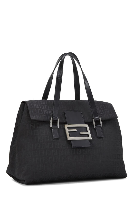 Black Zucchino Canvas Handbag Large, , large image number 1