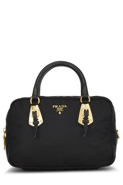 Black Tessuto Nylon Handbag Mini