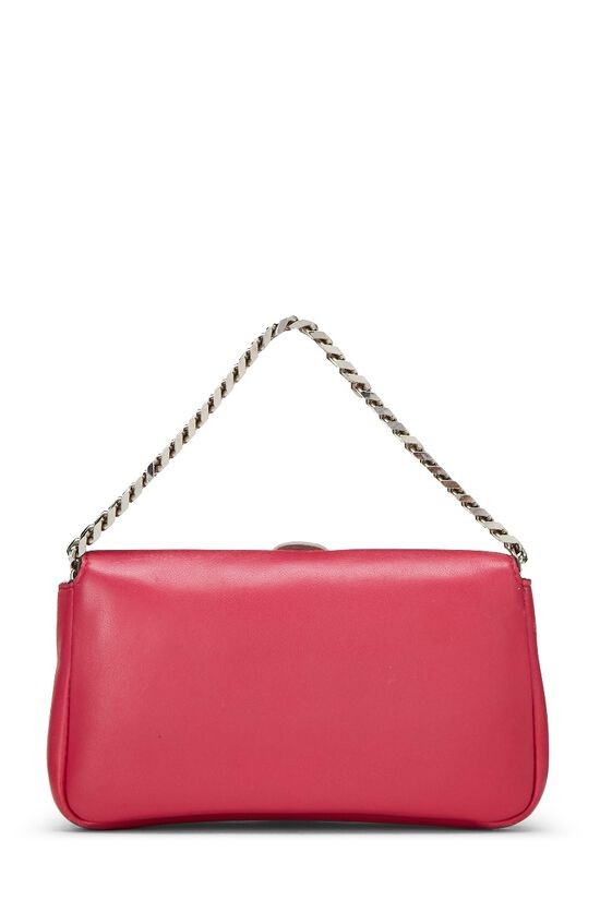 Pink Nappa Leather Monster Baguette Micro, , large image number 3