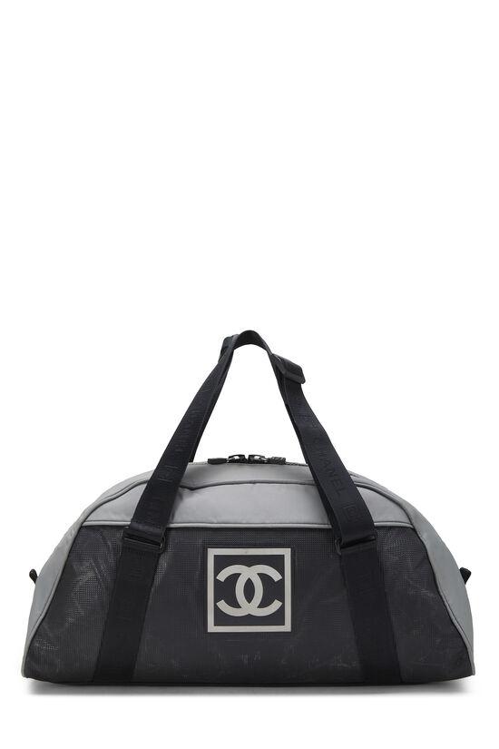 Black & Grey Nylon Sportline Duffle, , large image number 0