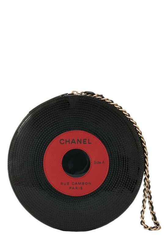 Black Patent Vinyl Record Clutch, , large image number 0