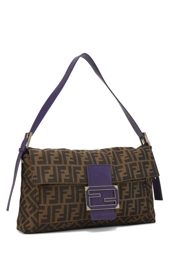 Brown Zucca Canvas Baguette XL, , large image number 1