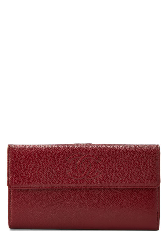 Red Caviar 'CC' Organizer Wallet, , large image number 0