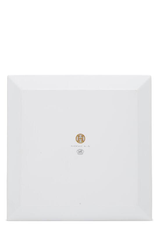 Gold Porcelain Mosaique au 24 Square Plate, , large image number 2