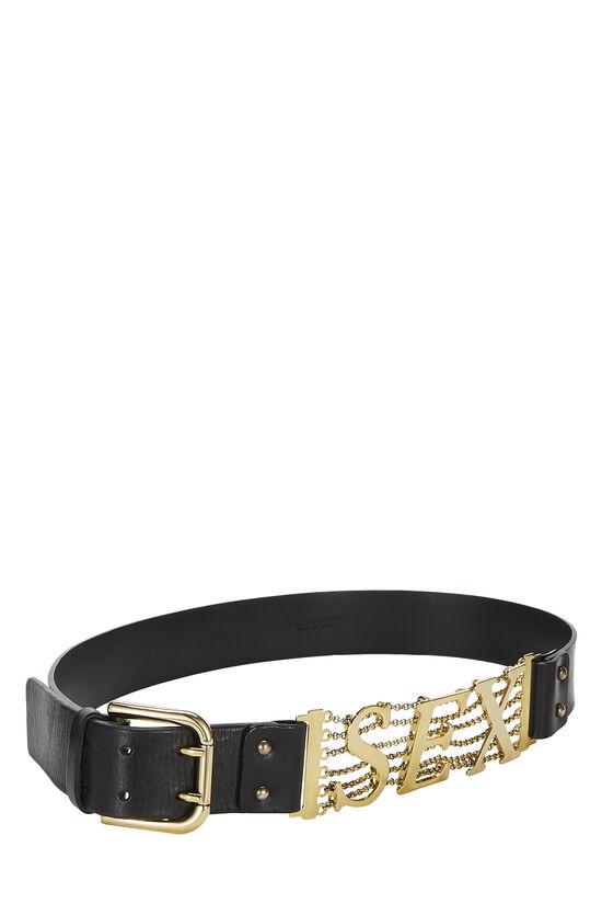 Black Leather Sex Belt, , large image number 1