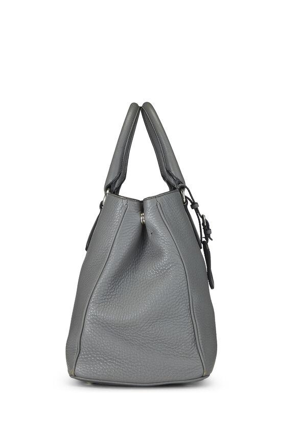 Grey Vitello Daino Handbag, , large image number 2