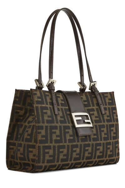 Brown Zucca Canvas Shopping Tote Small, , large