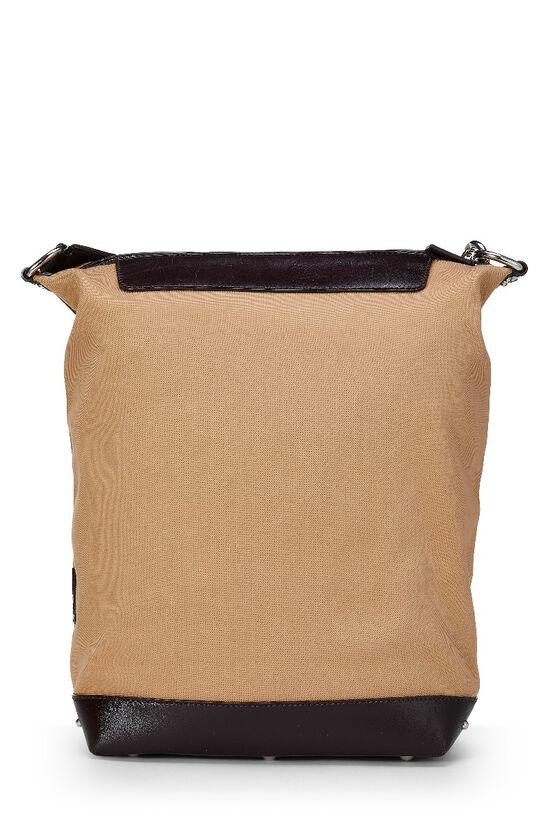 Beige Canvas Shoulder Bag, , large image number 3