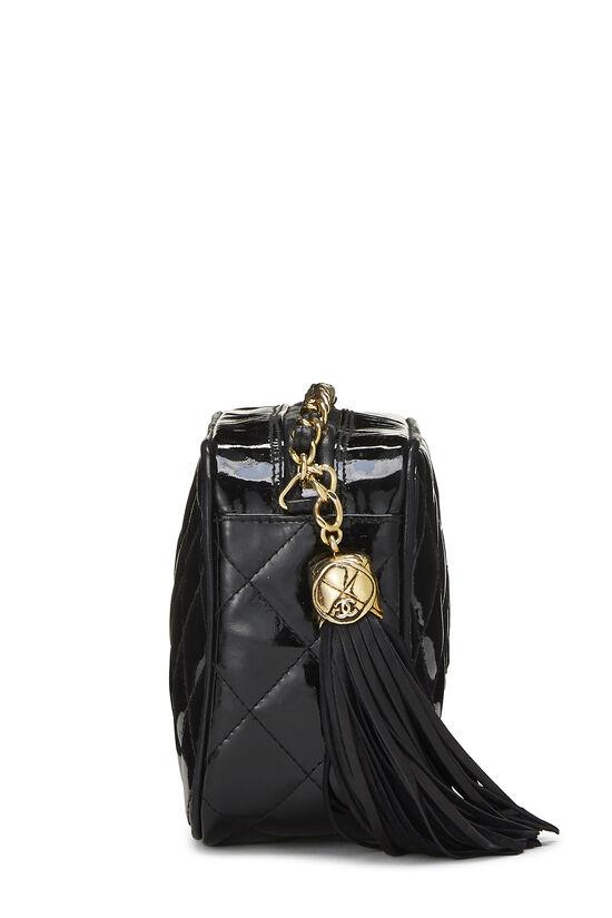 Black Patent Leather Diamond Camera Bag Mini, , large image number 2
