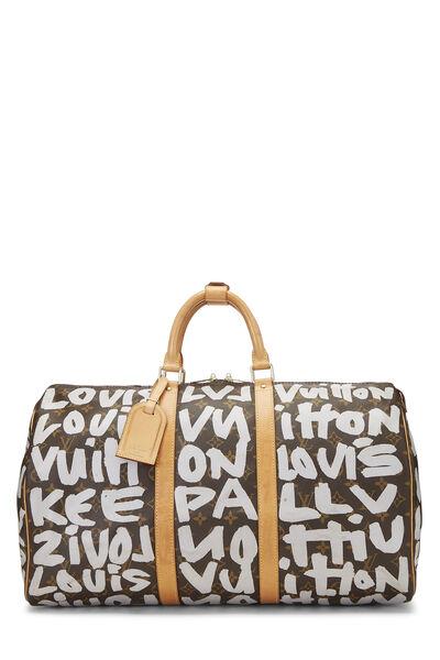Stephen Sprouse x Louis Vuitton Grey Monogram Graffiti Keepall 50