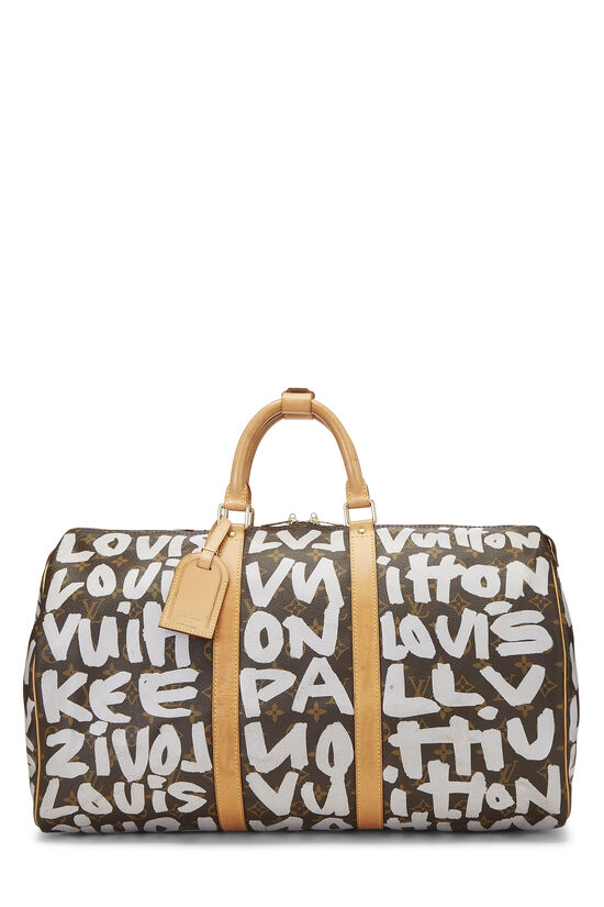 Stephen Sprouse x Louis Vuitton Grey Monogram Graffiti Keepall 50, , large image number 0