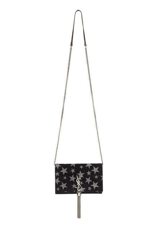 Black Star Suede Kate Tassel Wallet-on-Chain, , large image number 6