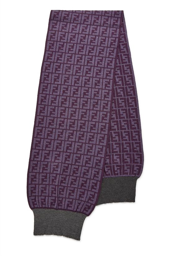 Purple Zucca Wool Scarf, , large image number 0