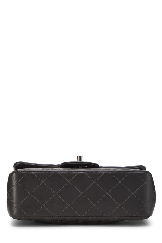 Charcoal Quilted Lambskin Classic Flap Mini, , large image number 4
