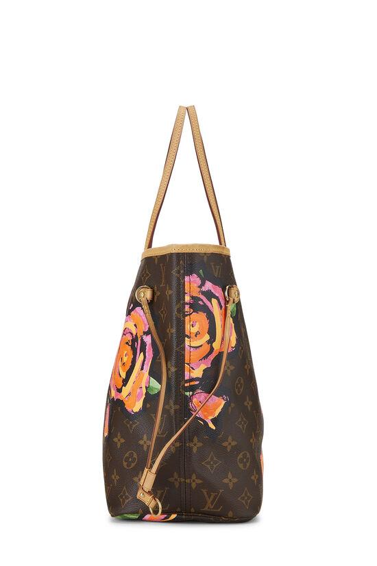 Stephen Sprouse x Louis Vuitton Monogram Canvas Roses Neverfull MM, , large image number 2