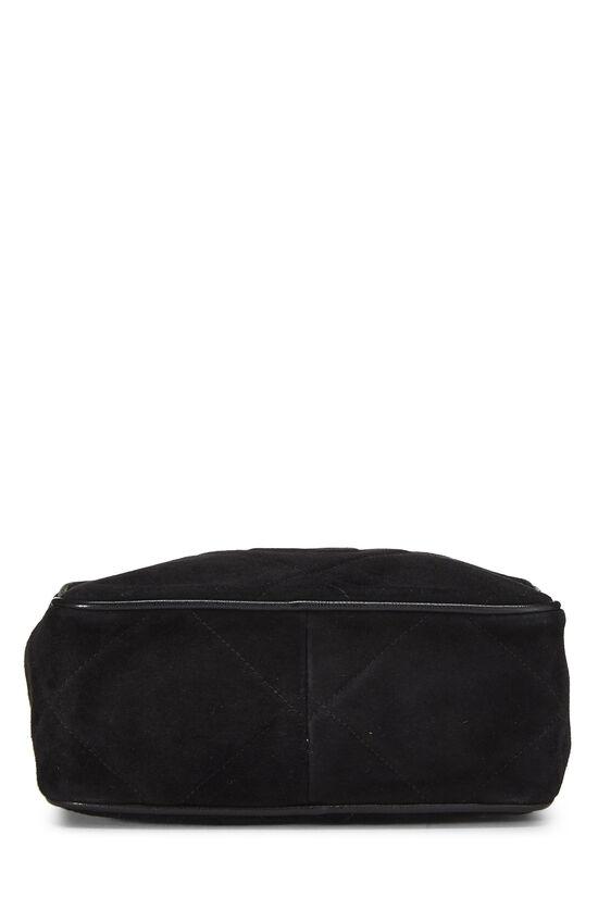 Black Suede Diamond 'CC' Camera Bag Mini, , large image number 4