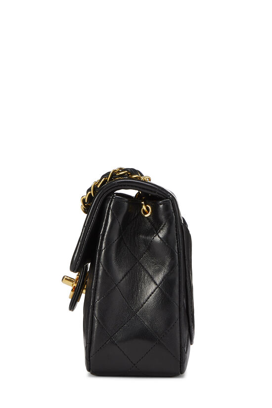 Black Quilted Lambskin Half Flap Mini, , large image number 2