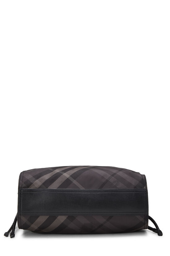 Black Check Nylon Buckleigh Tote, , large image number 4