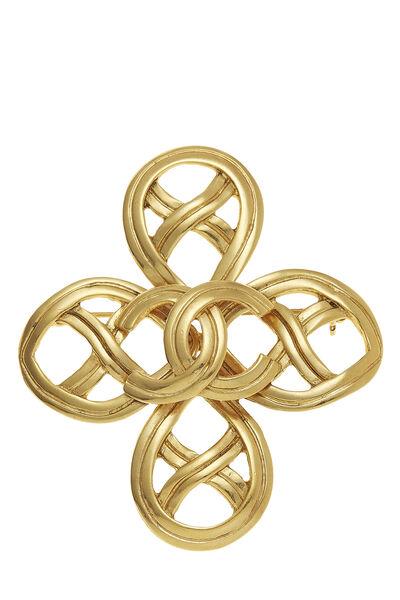 Gold 'CC' Cross Pin