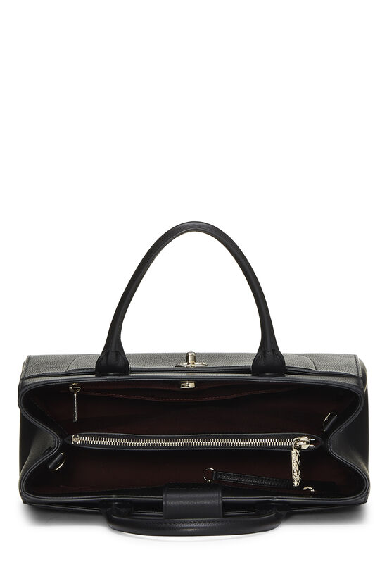 Black Leather Neo Executive Shopping Tote, , large image number 6