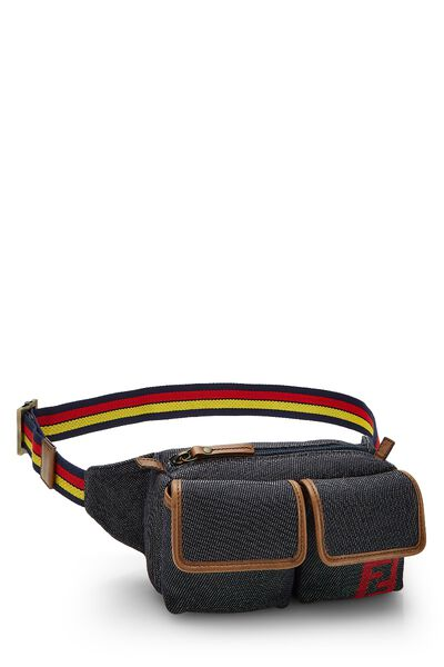 Blue Denim Belt Bag, , large